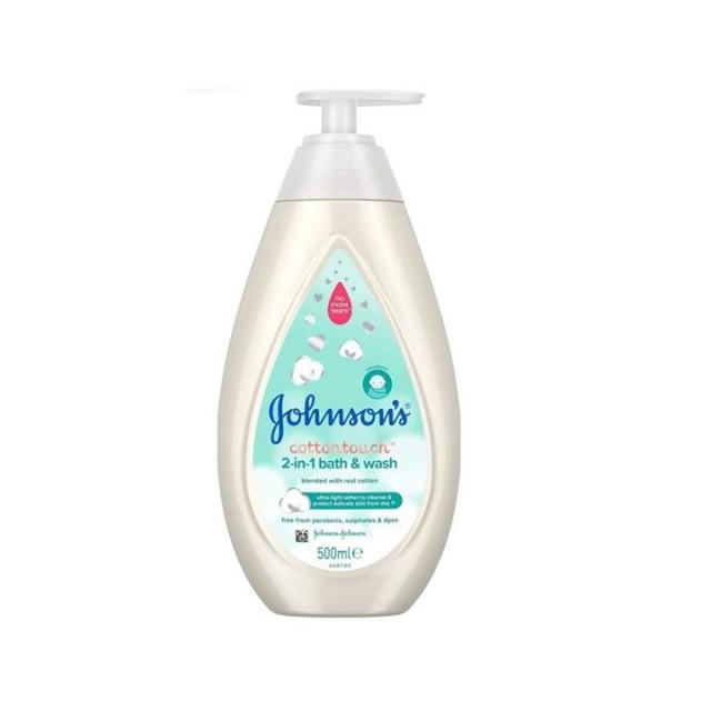 JOHNSON'S COTTON TOUCH gel za pranje kose i tela, 500ml